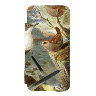 Colorful vintage illustration of birds case incipio watson™ iPhone 5 wallet case