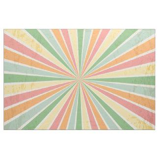 Colorful vintage sunburst fabric