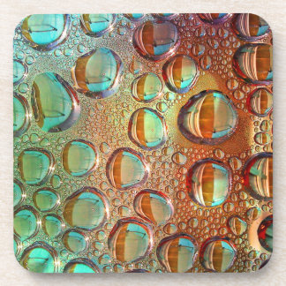 Colorful water bubbles pattern coaster
