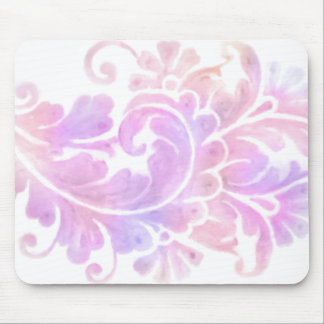 Colorful Watercolor Damask Mouse Pads