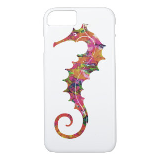 Colorful watercolor seahorse iPhone 8/7 case