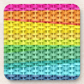 Colorful wicker graphic design coaster