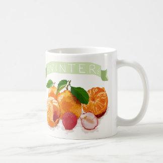 Colorful Winter Fruits Basic White Mug