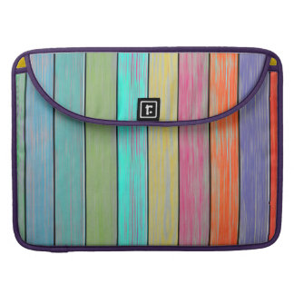Colorful Wood Planks Sleeve For MacBooks