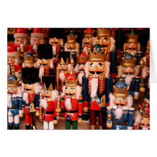 Colorful wooden nutcrackers card