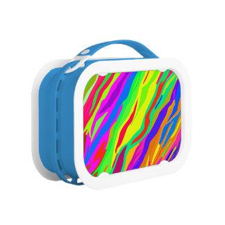 Colorful Zebra Stripes Lunch Box