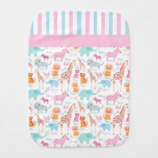Colorful Zoo Animals Burp Cloth