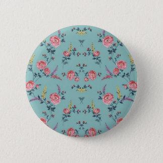Colorfull Flowers Print 6 Cm Round Badge