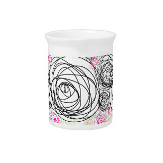 Colorfull Roses Drink Pitcher