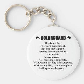 Colorguard Cadence Keychain
