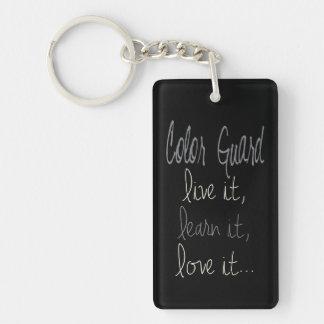 Colorguard Live It, Learn It, Love It Keychain