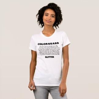 Colorguard Poop Glitter Front T-Shirt