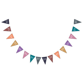 Colors & Numbers: 21 Bunting