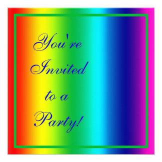 Colors of the Rainbow Invites