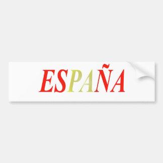 Colors Spain Flag Bumper Sticker