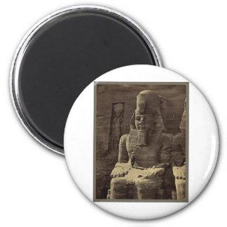 Colossal Figure, Abu Sunbul, Egypt circa 1856 Magnet