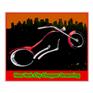 "Colossal New York City Chopper jGibney 61.44"" x 52 Posters"