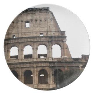 Colosseum Italian Travel Photo Plate