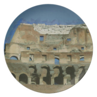 Colosseum painting, Rome Plate