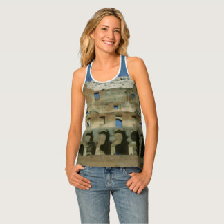 Colosseum painting, Rome Singlet
