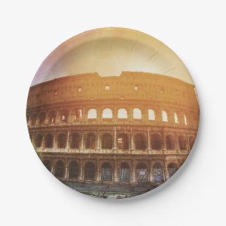 Colosseum, Rome, Italy Paper Plate