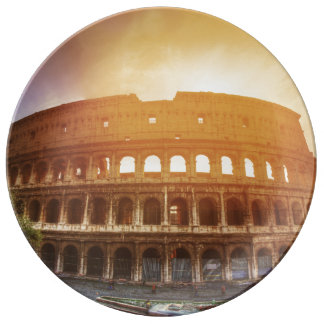 Colosseum, Rome, Italy Plate