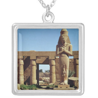 Colossus of Ramesses II: standing statue of Silver Plated Necklace
