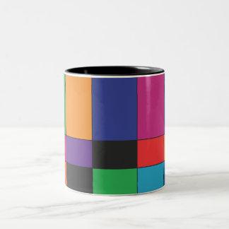 Colour Blocks Two-Tone Coffee Mug