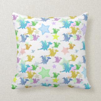 Colour Cartoon Dragons Pattern Pillow