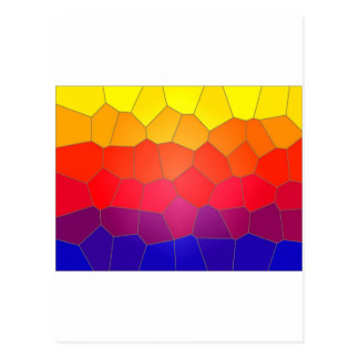 Colour mosaic tiles postcards