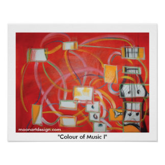 """""""Colour of Music I"""" Poster"""