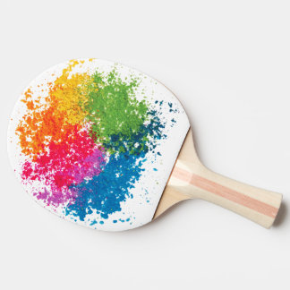 Colour Powder Rainbow Ping Pong Paddle