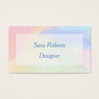 Colour splash business card