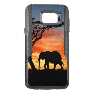 Colourful African Safari Sunset Elephant OtterBox Samsung Note 5 Case