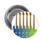 Colourful Bass Guitars 6 Cm Round Badge