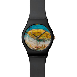 Colourful Blimp Painting Wristwatches
