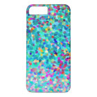 Colourful Blue Multicolored Abstract Art Pattern iPhone 8 Plus/7 Plus Case