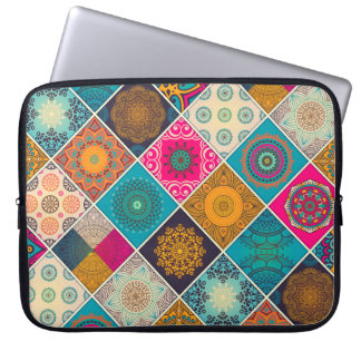 Colourful Bohemian Mandala Patchwork Laptop Sleeve