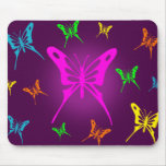Colourful Butterfly Mouse Pad
