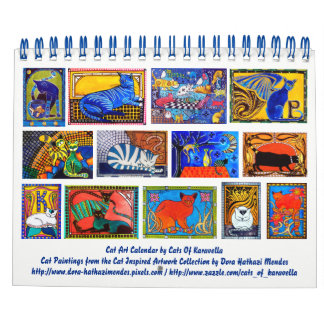 Colourful Cat Art Calendar 2018 for Cat Lovers