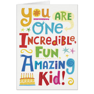 Colourful Childrens Birthday Card