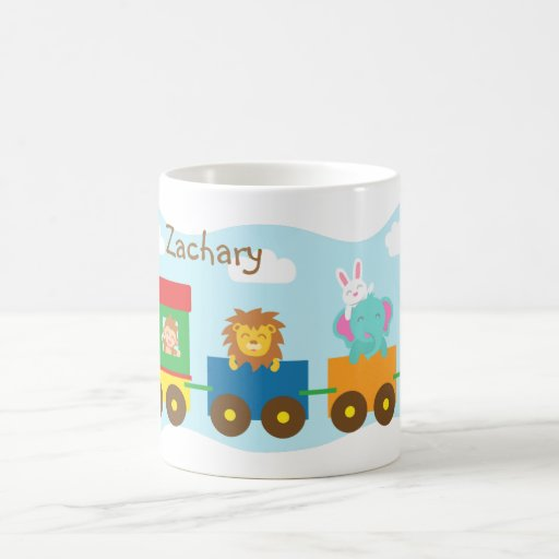 Colourful Cute Animal Train Transport Mugs