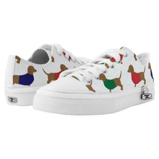 Colourful Dachshund Wiener Dogs Zipz Low Top Shoes