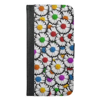 Colourful daisies iPhone 6/6s plus wallet case