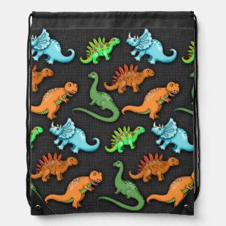 Colourful Dinosaurs Drawstring Backpack