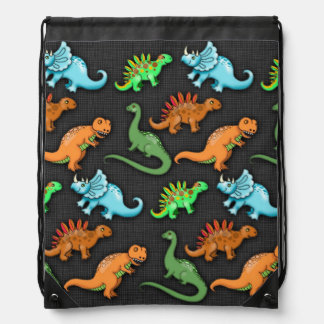 Colourful Dinosaurs Drawstring Bag