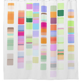 colourful DNA shower curtain