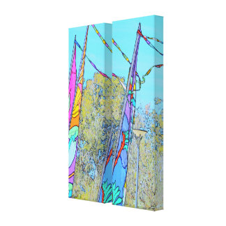 Colourful Flags Picture Canvas Print