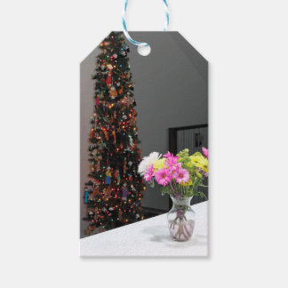 Colourful Flower Bouquet and Christmas Tree