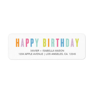 Labels - Colorful Happy Birthday Label